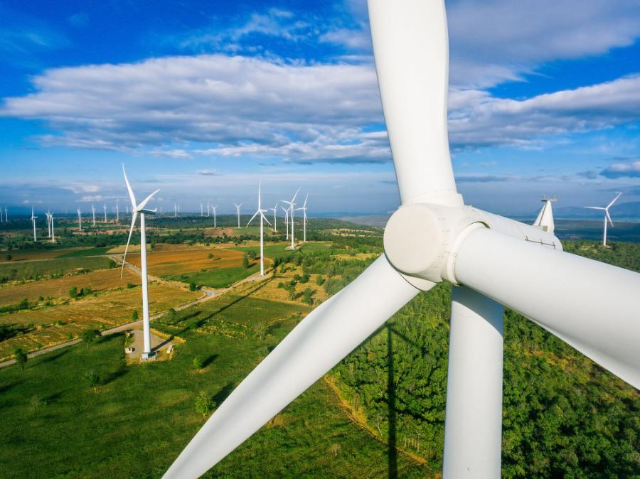 When completed, the wind farm south of Rawlins is expected to provide 2,500 to 3,000 megawatts of energy, doubling the state's wind energy production.