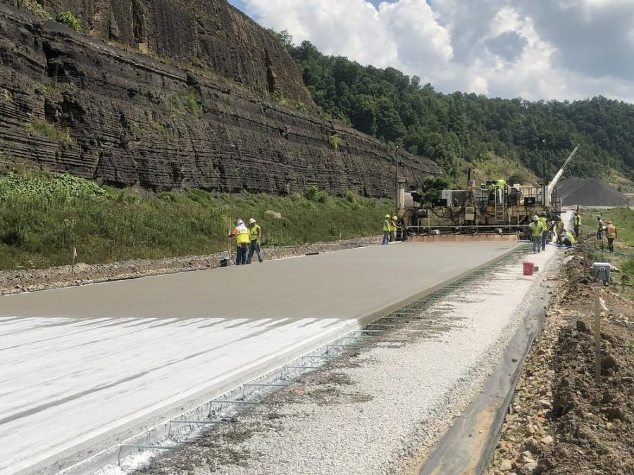 More than 100,000 ft. of surface drainage pipe (free drain base trench and outlet pipe) will be installed. In addition, more than 228,000 ft. of striping will be completed and more than 104,000 cu. yds. of concrete will be installed.