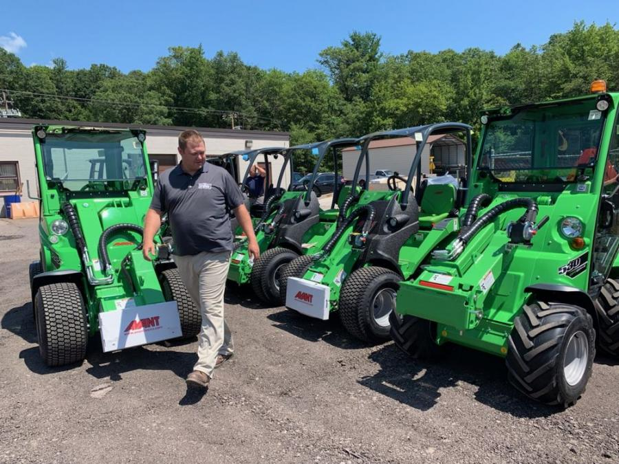 Territory Sales Manager Adam Bogert, Drums, checks out the new Avant machines.