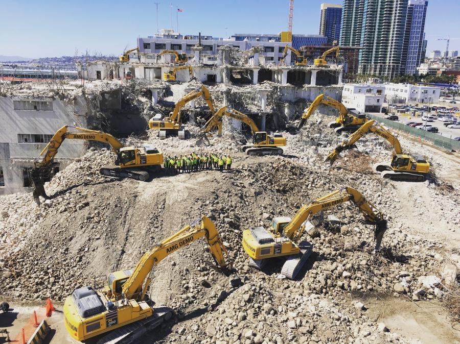 AMG Demolition and Environmental Service in San Diego did the demolition work on the Manchester Gateway Development. (AMG Demolition photo)
