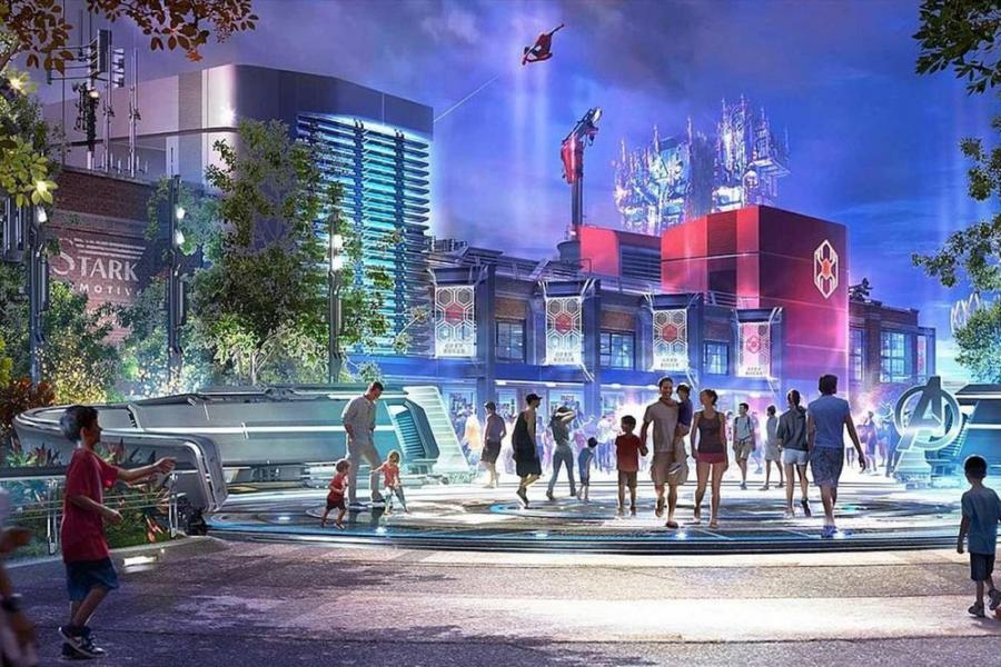 Marvel Superhero Land, announced in October 2018, will feature rides and attractions based on Spider-Man, Doctor Strange, Ant Man and the Avengers.