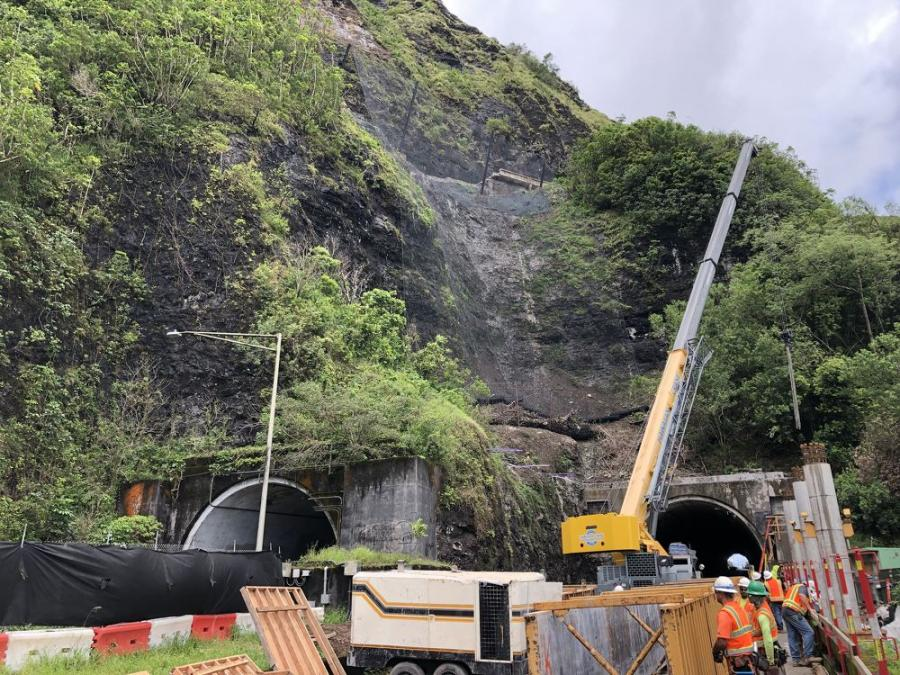 Current tunnel structure construction.