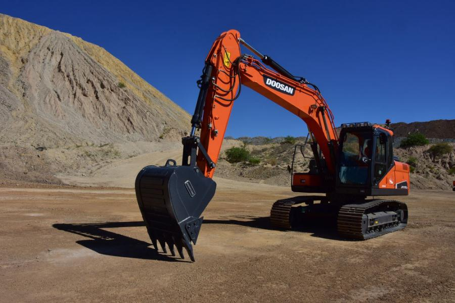 The DX170LC-5 excavator will be a step up from the smaller Doosan DX140LC-5 and DX140LCR-5 models, but it won't be as large as the DX180LC-5.