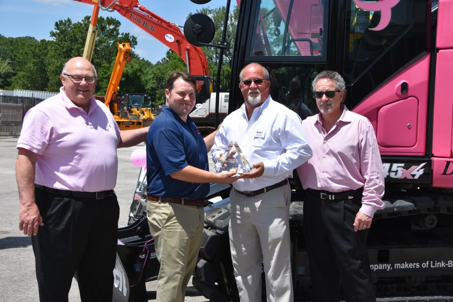 (L-R): Del Keller, vice president of sales, Kirby-Smith; Adam Craft, regional manager, LBX; Tim Yauilla, sales and operations manager, Kirby-Smith; and Jeff Weller, exectutive vice president and COO, Kirby-Smith.