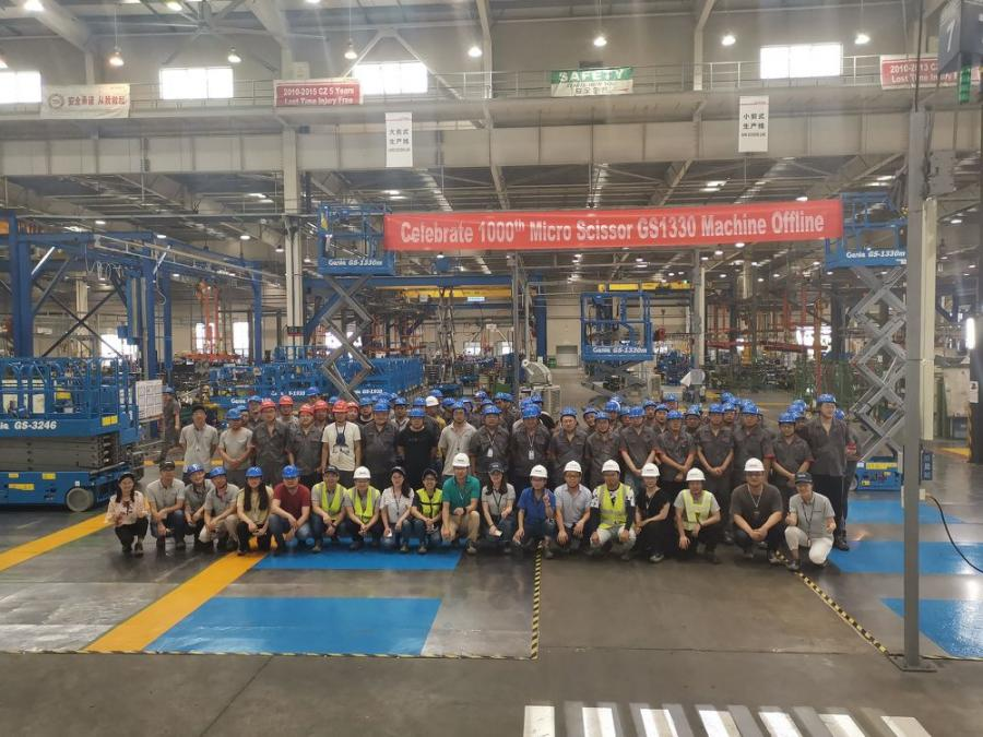 Terex AWP Celebrates Milestone in Production | Construction