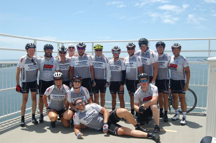 Team cyclists included Chris Calder, David Calder, Glen Calder, Morgan Alford, Chris Brandon, Brandon Granger, Phil Greg, Gaines Huguley, Jim Knight, William Luce, Greg Muxlow, Louis Redmond, Charlie Winenands, Jim Van Vleet and Matt Van Vleet.