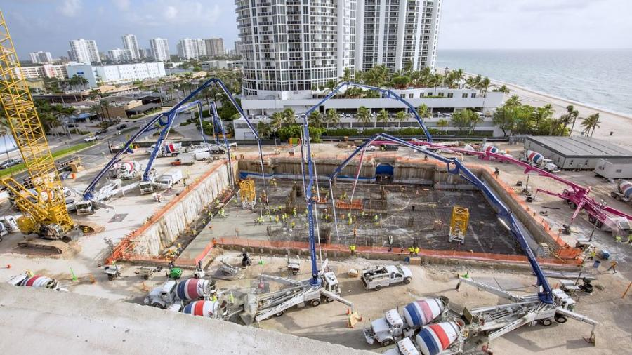 Cemex USA has announced it is expected to deliver an estimated 155,000 cu. yds. of ready-mix concrete to supply the construction of The Estates at Acqualina in Sunny Isles Beach, Fla.