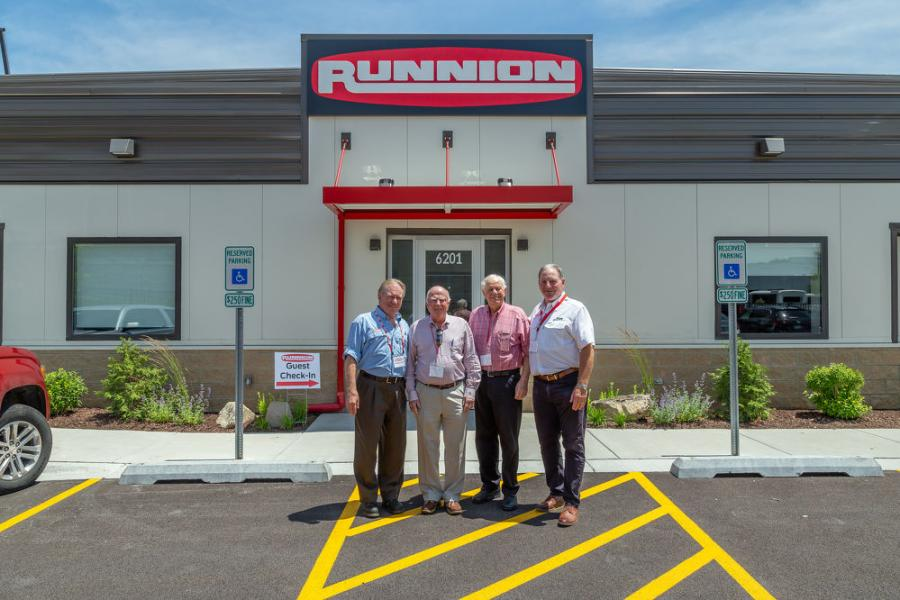 More than 150 customers and vendors attended the event. (L-R) are Mike Prochot, president; John T. O'Connell, Village of Hodgkins Attorney; Noel B. Cummings, Mayor of Hodgkins; and Pat Runnion, CEO.