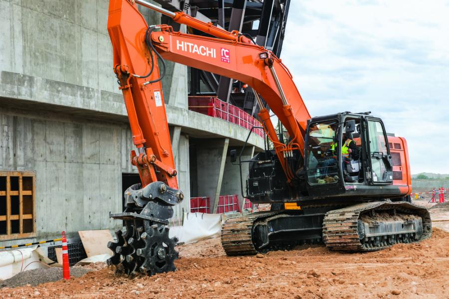 """The 345 stood out. The track width is great. I could tell right away that the geometrics of the 345 make for a very stable machine. I also like the stick configuration and the mobility of it,"" said John Fornfeist, operations manager of New-Com."