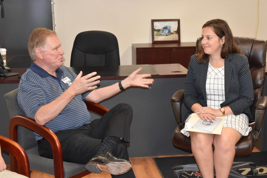 Jerry Tracey, president and founder of Tracey Road Equipment, with Congresswoman Elise Stefanik.