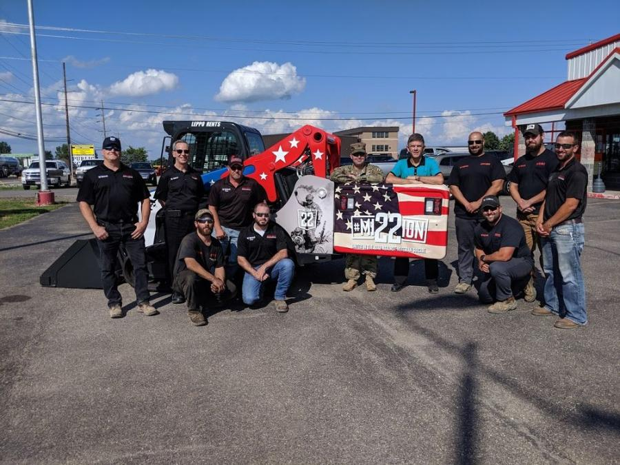 With this custom track loader, Leppo Rents continues the company's trend of wrapping equipment in support of various charitable endeavors.
