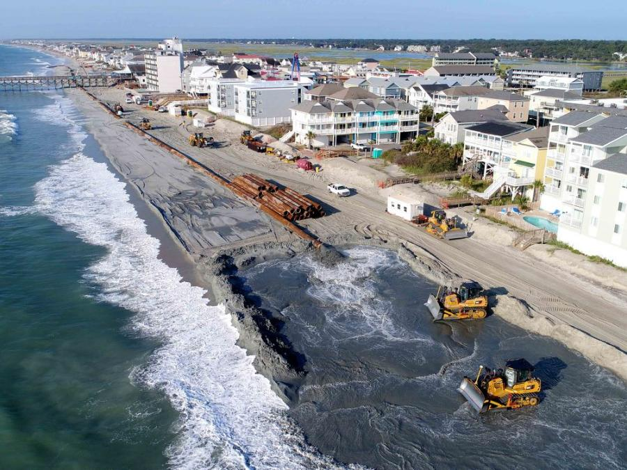 After hurricanes in successive years (2016-2018) ravaged South Carolina's beaches, the U.S. Army Corps of Engineers invested close to $86 million for beach renourishment projects to repair the damage.