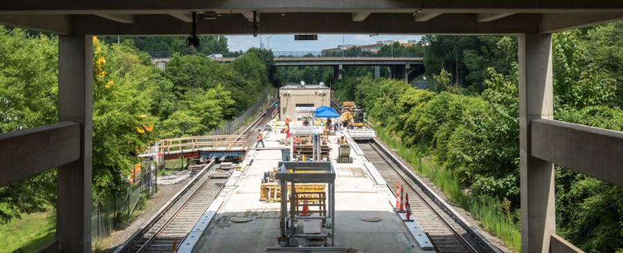 Part of Metro's three-year Platform Improvement Project will completely reconstruct the outdoor platforms at 20 Metrorail stations. (WMATA photo)