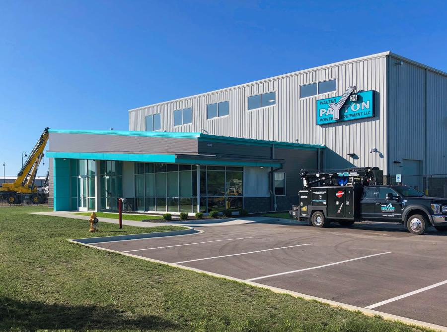 Walter Payton Power Equipment's new facility is capable of handling equipment that ranges from small carry deck cranes to larger crawler cranes, and its location makes it easier for customers to pick up and deliver equipment to the company.