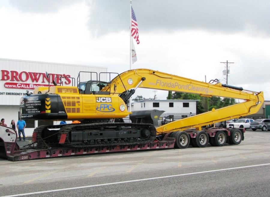 The entire machine and 70-ft. stick configuration came in from the U.K. fully assembled, ready for final modifications.