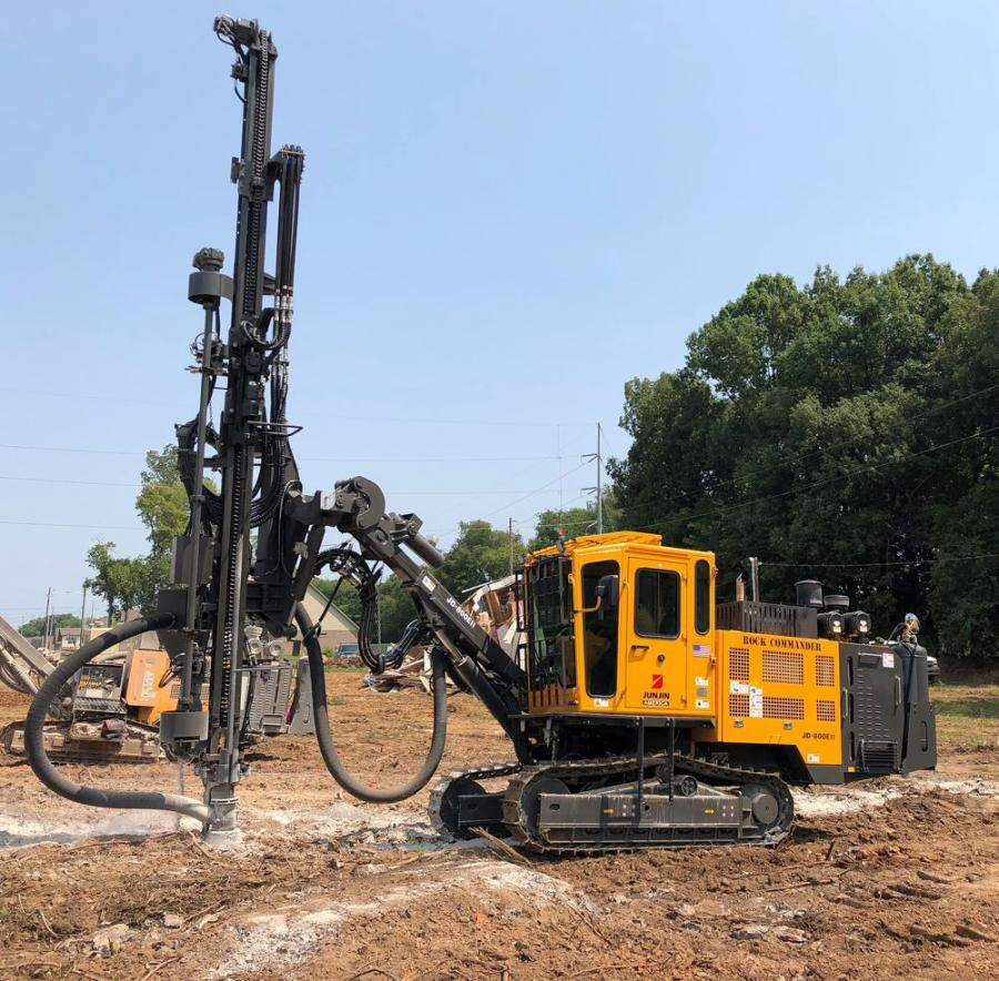 Junjin America LLC has added the JD-800E-II to its Rock Commander drill lineup. The powerful YH80A drifter allows for a hole size from 2.75 in. to 4 in.