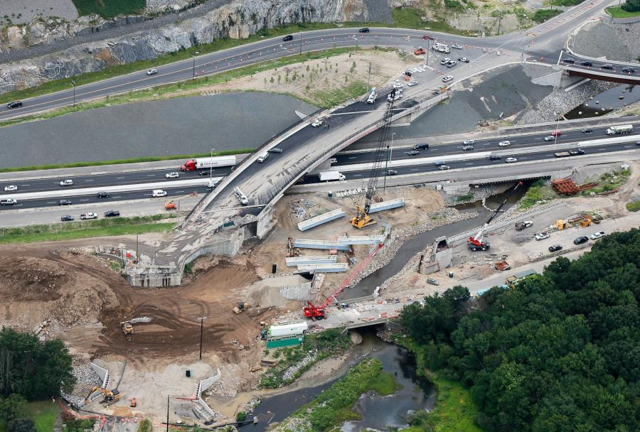 Twelve winning transportation projects from four U.S. regional competitions, including the I-84 widening project in Waterbury, will battle it out in this year's America's Transportation Awards competition.
