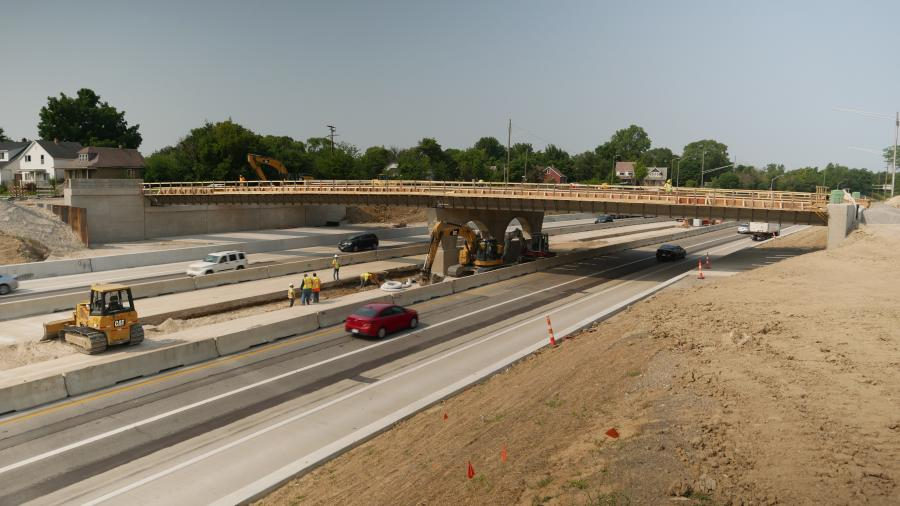This summer three bridges are being replaced over I-94 and the work on two of them — the Concord Street and French Road — are being reconstructed by Dan's Excavating Inc.