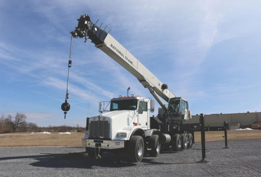 This 60 ton product offering now features the longest boom length in its tonnage class with 151 ft. (46 m) of main boom and a maximum main boom height of 161 ft. (49 m). It can be equipped with an optional 36 ft. (11 m) off-settable lattice jib that reaches a 196 ft. (59.7 m) maximum tip height.