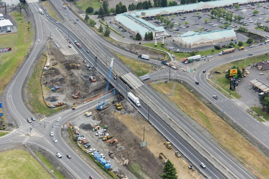 The Oregon Department of Transportation is working on an $18.8 million project to replace two bridges over I-84 in Troutdale.