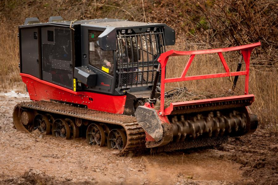 The Raptor 300r is ideal for working on power lines maintenance jobs, pipeline or roadside maintenance and even larger land clearing jobs in swampy areas.