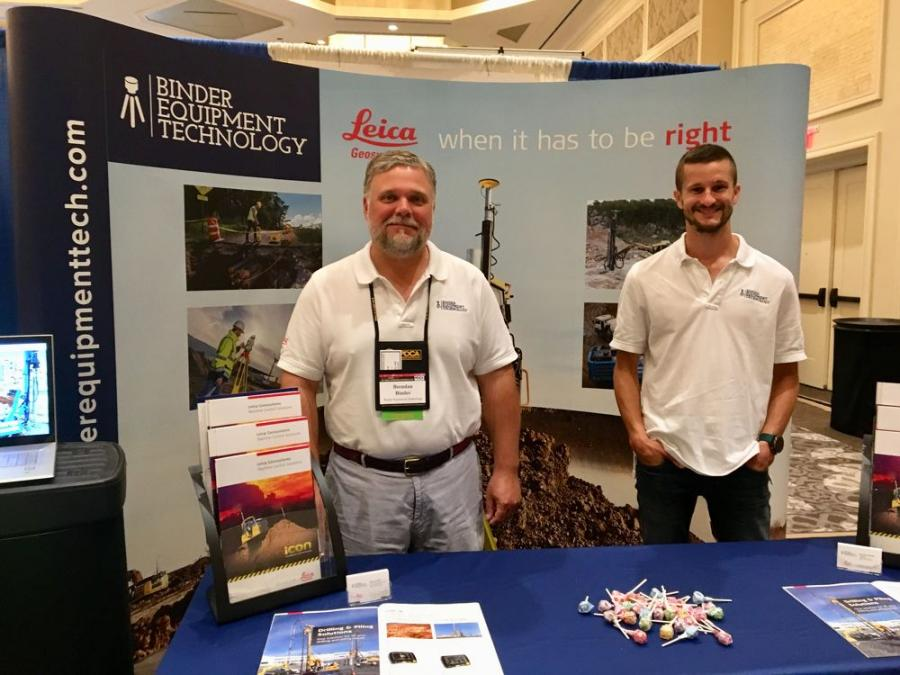 Brendan Binder (L), president, and Shawn Dahl, technical solutions manager, both of Binder Equipment Technology.