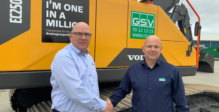 Rene Schelhase, (L) salesman at Volvo, and Jesper Lykke Jensen, operational director at GSV.