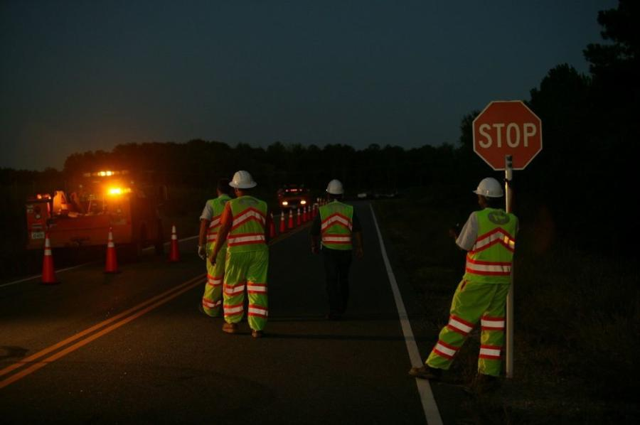 More work crews are utilizing flaggers to ease traffic through work zones more slowly and safely. (American Traffic Safety Services Association photo)