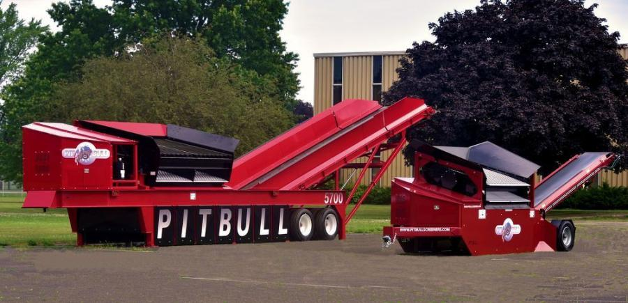 Lake Erie Portable Screeners' Pitbull 5700 is approximately two and a half times larger than its predecessor, the Pitbull 2300 portable screener.