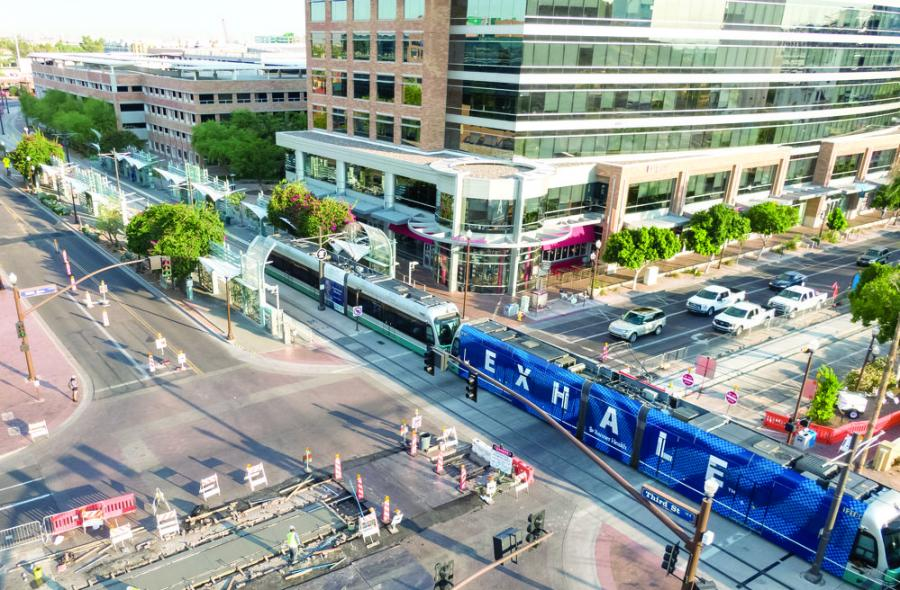 The U.S. Department of Transportation's Federal Transit Administration (FTA) announced a $75 million grant to Valley Metro for the Tempe Streetcar project in Tempe, Ariz.