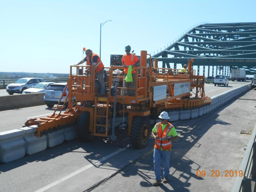 Crews working on a $53 million bridge repair over a New England river are getting a big assist from a piece of equipment never before used in Maine.