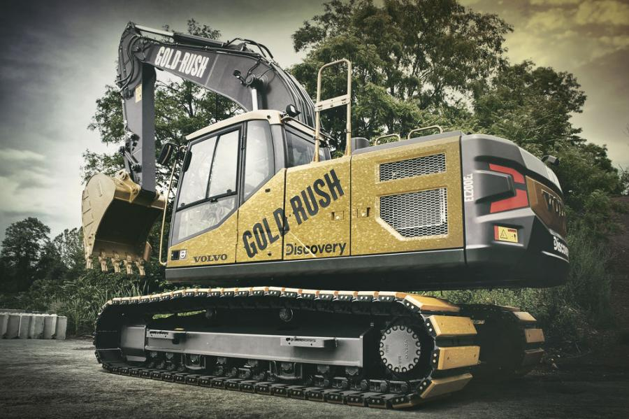 """This one-of-a-kind excavator will be auctioned off at Ritchie Bros. 2020 in Orlando, Fla., with proceeds benefiting home-building nonprofits. Fans will choose organizations through Discovery Channel's online """"Give Big Giveaway."""""""