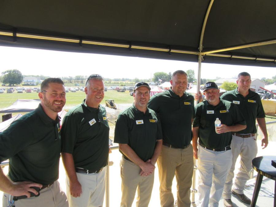 Representatives of Ohio Cat were kept busy with not only their own equipment display at the event but also at a separate equipment display and demonstration area featuring Caterpillar's 'In the Trenches Tour.' (L-R) are Dave Studenka, Chad Wiseman, Brian Speelman, Jason Kenworthy, Chris Murray and Matt Rapol.