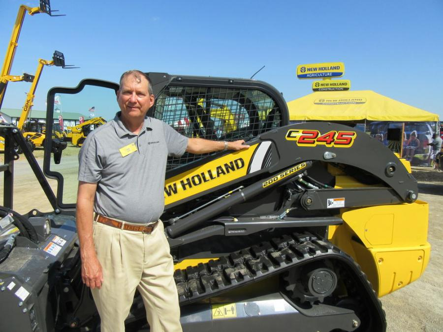 Product specialist Dave Kohuth was ready to talk about New Holland equipment at the show.