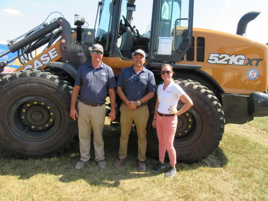 (L-R): Case Construction Equipment representatives Pat Klose and Ron Miller were on hand with Southeastern Equipment Company's Charla Mayhew at the show.