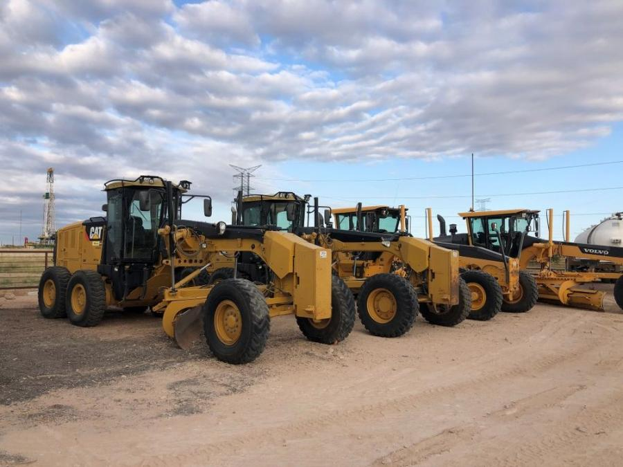 Yellow iron held steady at Jeff Martin's Permian Basin Unreserved Auction on Oct. 9.