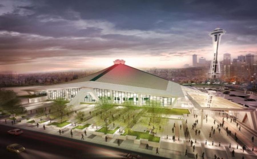Rendering of the new Seattle NHL Arena (Office of the Mayor, Seattle, Wash. photo)