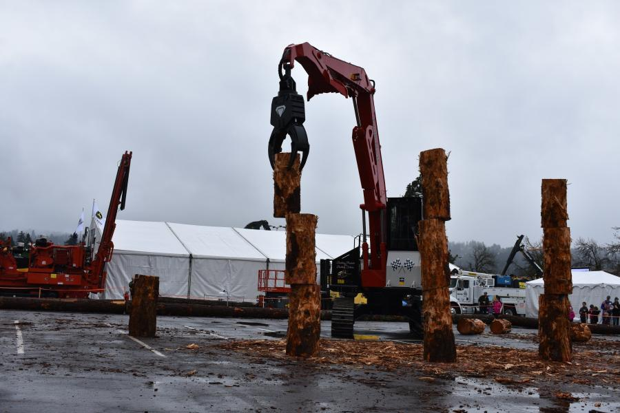 Attendees can participate in the 11th Annual Log Loader competition at the 2020 Oregon Logging Conference.