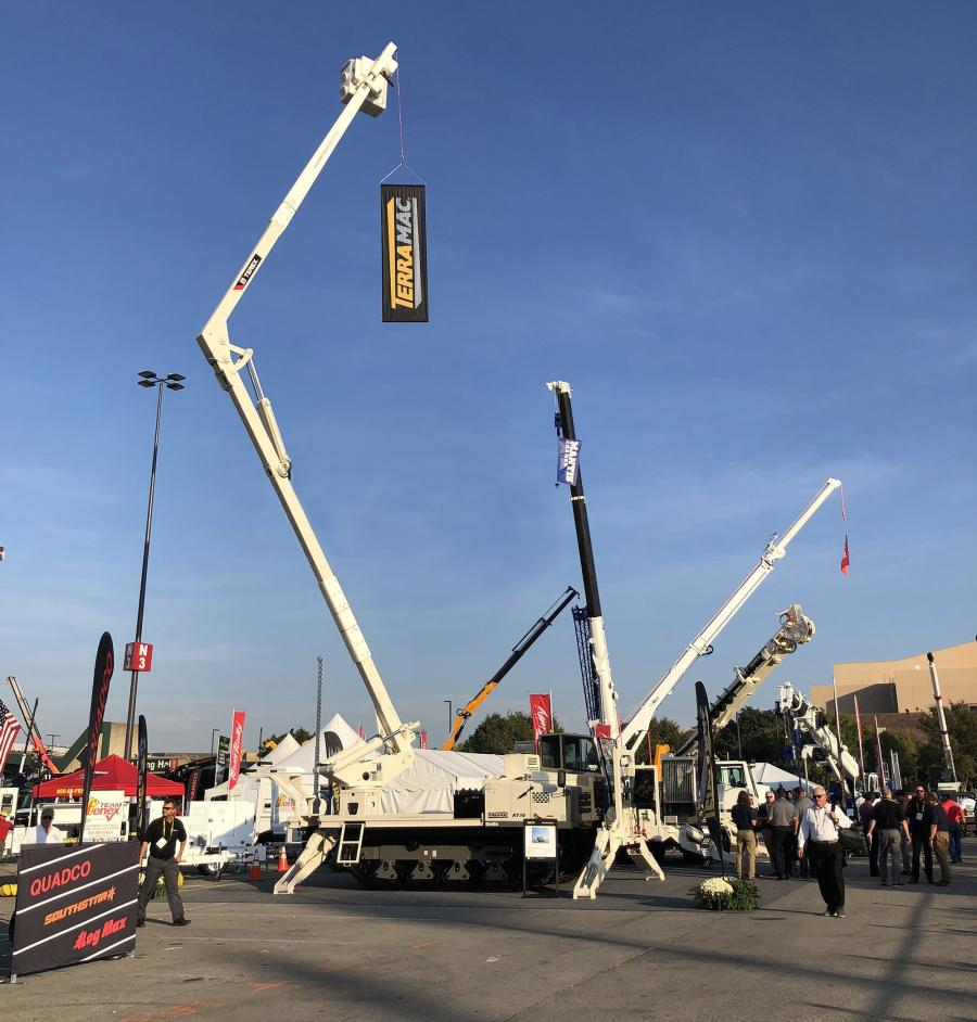Terramac displayed the new RT6U and RT14U utility crawler carriers at ICUEE 2019.