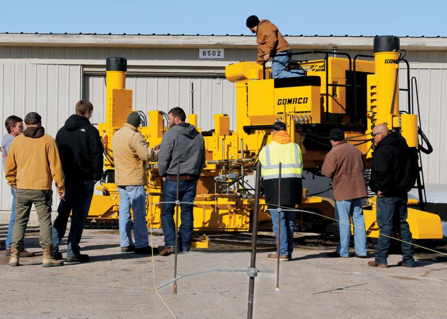 Students get hands-on training during an Xtreme Commander IIIx class last season at GOMACO University. The University is offering several classes again in 2020 on GOMACO's Xtreme line of curb and gutter machines.