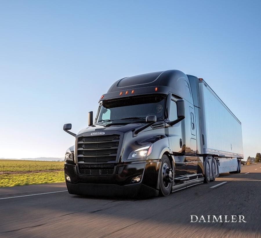 The Cascadia recently was enhanced with additional aerodynamic and powertrain management improvements to provide up to a 5 percent fuel efficiency gain over the previous model.