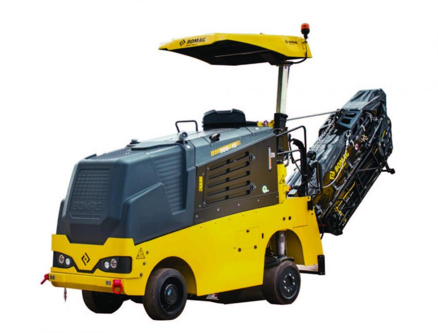 The Bomag BM 500/15-2 offers a maximum milling width of 19.7 in. (50 cm) and the BM 600/15-2 a maximum width of 23.6 in. (60 cm).