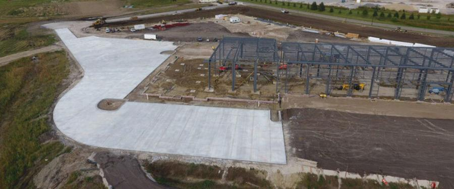 Progress on RDO Equipment Co.'s new store in Dayton, Minn., reached a significant milestone this fall.
