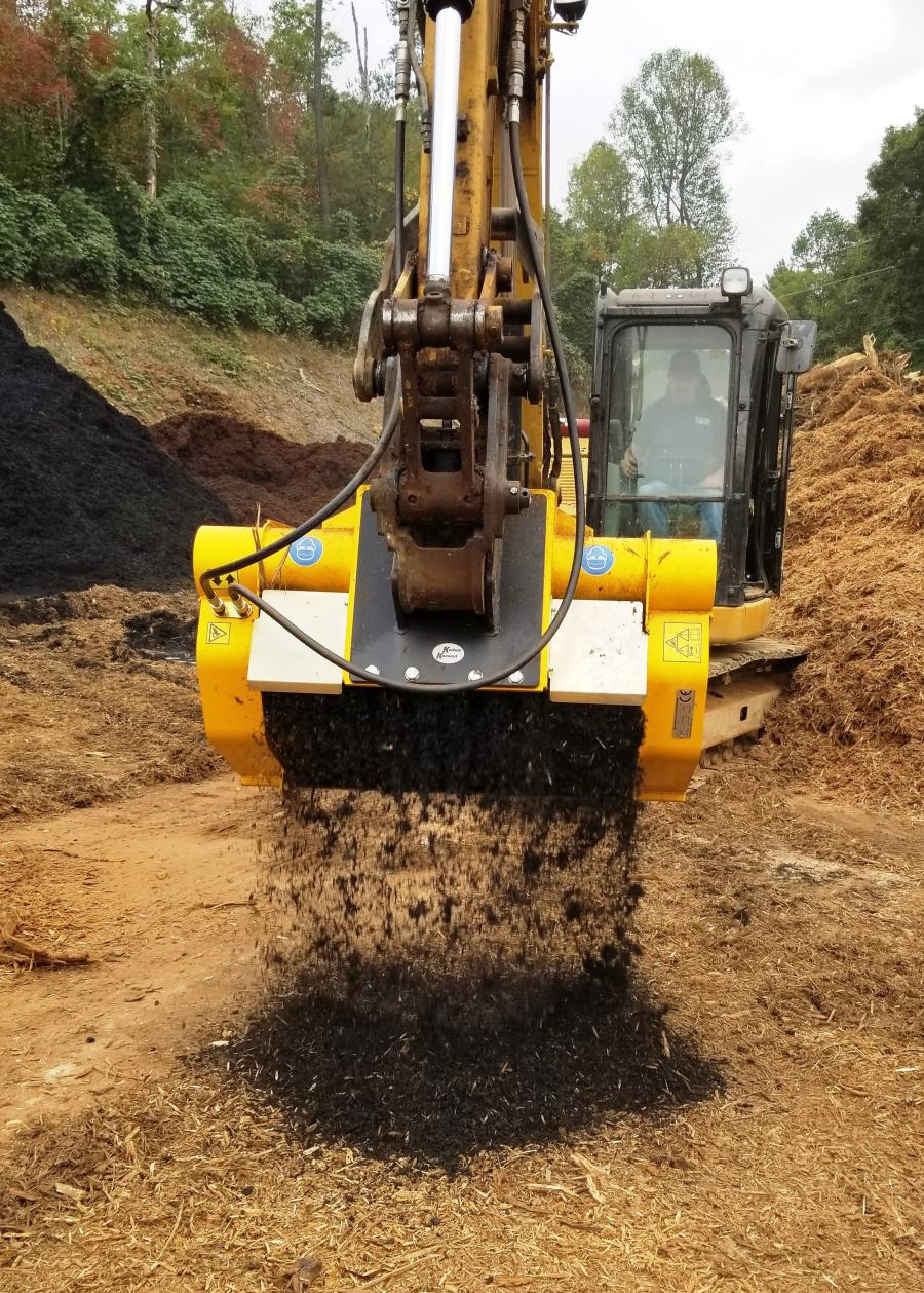 Shuler's Mulch and Grading provides grading services, and supplies mulch, dirt, rock and sand throughout western North Carolina from its Franklin headquarters. The company purchased a Gyru-Star compact screening bucket from Ransome Attachments.