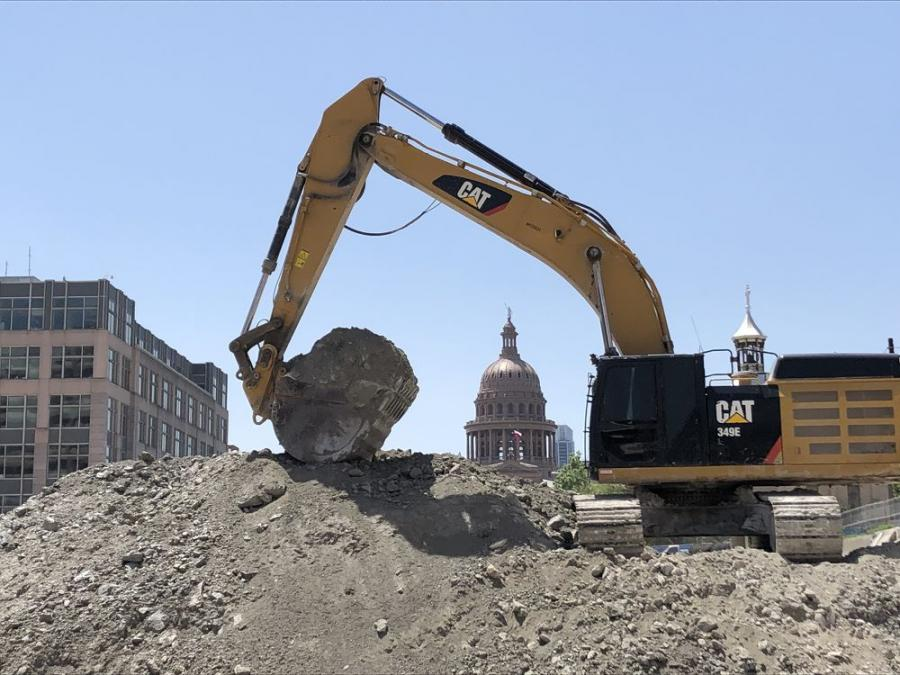 In addition to the construction of two new office buildings and an urban space, Phase One of the Texas Capitol Complex includes five levels of underground parking, requiring  a more than 50-ft. deep excavation.