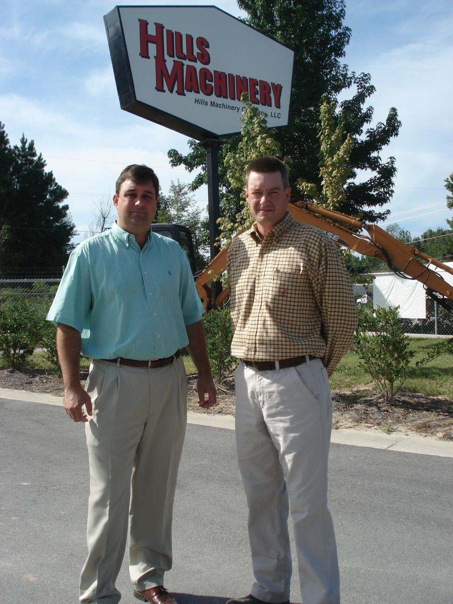 Jim (L), president, and Adam Hills, executive vice president, both of Hills Machinery Company.
