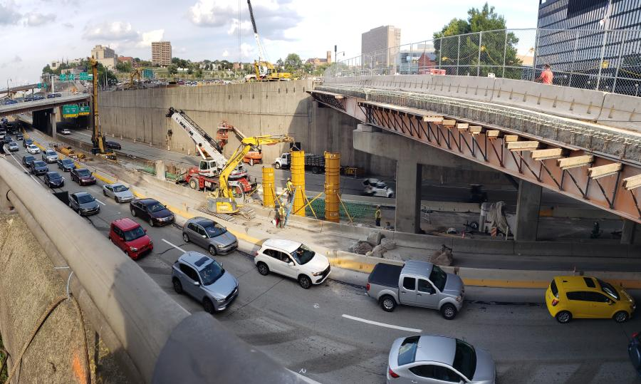 The $29.34 million project will consist of the construction of a structure spanning I-579 to link downtown Pittsburgh and the Hill District.