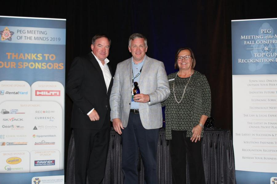 (L-R) are Dan Crowley, president of Peer Executive Groups; Robert Sloan, owner and president of Contractors Equipment Rentals; and Ruth Bloom of Peer Executive Groups.