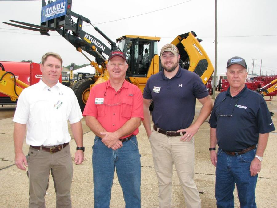 Ownership and key staffers of Crosby Equipment were out promoting their lines of machines (L-R) including Jay Crosby, Jerome Crosby, Brandon Hunter and David Crockett.