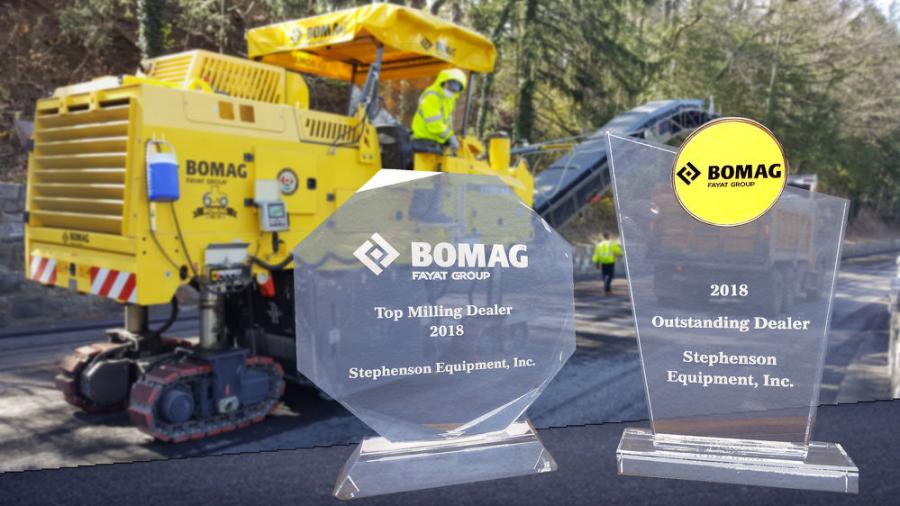 Bomag awarded these honors noticing how Stephenson Equipment sets itself apart from other dealerships by focusing very effectively on in-stock machinery, in-stock parts when needed and a service and rental fleet that keeps their customers up and running.